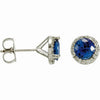 Simple & Beautiful Genuine Gemstone Blue Sapphire Earrings at BitCoin Gems