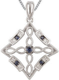 Fabulous Genuine Gemstone Blue Sapphire Pendant for SALE at BitCoin Gems