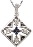 Attractive Genuine Gemstone Blue Sapphire Pendant for SALE at BitCoin Gems