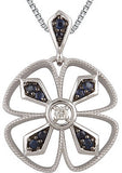 Decorative Genuine Gemstone Blue Sapphire Pendant for SALE at BitCoin Gems