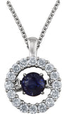 Glamorous Genuine Gemstone Blue Sapphire Pendant for SALE at BitCoin Gems