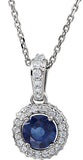 Fine Genuine Gemstone Blue Sapphire Pendant for SALE at BitCoin Gems