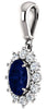 Regal Genuine Gemstone Blue Sapphire Pendant for SALE at BitCoin Gems