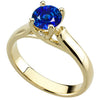 Trendy Blue Sapphire Genuine Gemstone Ring at BitCoin Gems