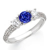 Magnificent Blue Sapphire Genuine Gemstone Ring at BitCoin Gems