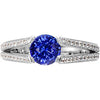 Lovely Blue Sapphire Genuine Gemstone Ring at BitCoin Gems