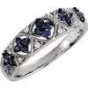 Pretty Blue Sapphire Genuine Gemstone Ring at BitCoin Gems