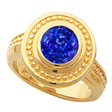 Snazzy Blue Sapphire Genuine Gemstone Ring at BitCoin Gems
