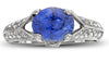 Elegant Blue Sapphire Genuine Gemstone Ring at BitCoin Gems