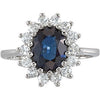 Gorgeous Blue Sapphire Genuine Gemstone Ring at BitCoin Gems