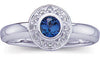 Classy Blue Sapphire Genuine Gemstone Ring at BitCoin Gems