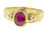 Beautiful RubyGenuine Gemstone Ring at BitCoin Gems
