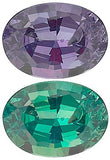 Grade A Natural Color Change Oval Cut Genuine Alexandrite
