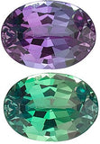 Color Change Natural Oval Cut Genuine Alexandrite in Grade AA