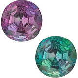 Color Change Genuine Round Alexandrite Gemstone in Grade A