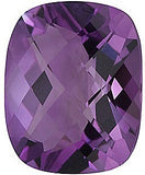 Pretty A Grade Checkerboard Antique Cushion Cut Genuine Amethyst Loose Gem