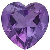 A Grade Natural Purple Amethyst Gemstones in Heart Cut