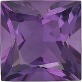 Good Looking Size Princess Cut Grade AA Best Amethyst Gems