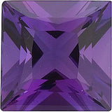 Standard Size Grade AAA Princess Cut Calibrated Size Amethyst Gemstones