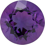Low Price Grade AA Round Cut Purple Amethyst Gemstones in