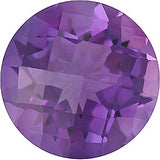 Quality Round Checkerboard Cut Grade A Lilac Swarovski Enhanced Amethyst Gems