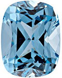 Genuine Chatham Aqua Blue Spinel Gemstones in Grade GEM, Antique Cushion Cut