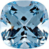 Lab Created Chatham Aqua Blue Spinel Loose Gems in Antique Square Cut - Grade GEM
