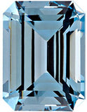 Loose Chatham Aqua Blue Spinel Grade GEM in Emerald Cut