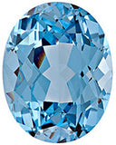 Aqua Blue Spinel Chatham Created Gems in Oval Cut - Grade GEM