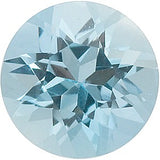 Grade AA Discount Loose Aquamarine Gems in Round Cut
