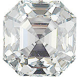 Genuine Natural VS-GH Quality Diamond Loose Gems in Asscher Cut