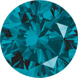 Shop Teal Blue Color Enhanced Diamonds in Round Shape