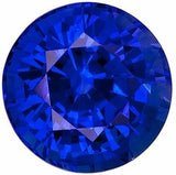 Quality Blue Sapphire Loose Gems Round Cut Grade AAA