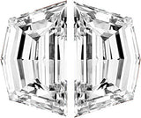 Stunning Top Quality Well Matched Pair of Cadi Cut Diamonds Step Cut F Color  VS Clarity