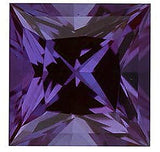 Grade GEM Princess Cut Loose Alexandrite Chatham Created Synthetic Gemstone
