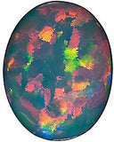 Black Opal Chatham Created Gems in Oval Cut - Grade GEM
