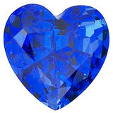 Genuine Chatham Blue Sapphire Gemstones in Grade GEM, Heart Cut