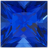 Grade GEM Princess Cut Loose Blue Sapphire Chatham Created Synthetic Gemstone