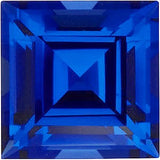 Synthetic Grade GEM Chatham Created Blue Sapphire Loose Gems in Square Step Cut