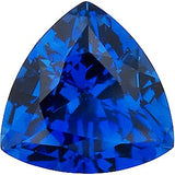 Loose Chatham Blue Sapphire Grade GEM in Trillion Cut