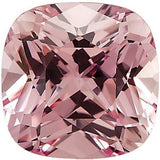 Lab Created Chatham Pink Champagne Sapphire Loose Gems in Antique Square Cut - Grade GEM