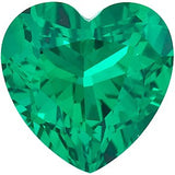 Genuine Chatham Emerald Gemstones in Grade GEM, Heart Cut
