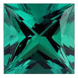 Grade GEM Princess Cut Loose Emerald Chatham Created Synthetic Gemstone