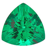 Loose Chatham Emerald Grade GEM in Trillion Cut