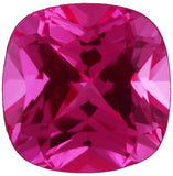 Lab Created Chatham Pink Sapphire Loose Gems in Antique Square Cut - Grade GEM
