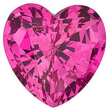 Genuine Chatham Pink Sapphire Gemstones in Grade GEM, Heart Cut