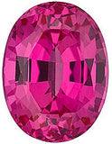 Pink Sapphire Chatham Created Gems in Oval Cut - Grade GEM