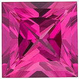 Grade GEM Princess Cut Loose Pink Sapphire Chatham Created Synthetic Gemstone