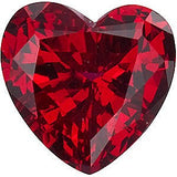 Genuine Chatham Ruby Gemstones in Grade GEM, Heart Cut
