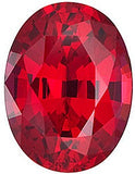 Ruby Chatham Created Gems in Oval Cut - Grade GEM